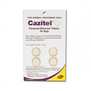 Cazitel 10kg X 4 TABS - Cazitel Allwormer for Dogs