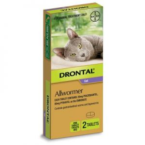 cat wormer, Drontal Cat All Wormer 4kg x2 Tablets