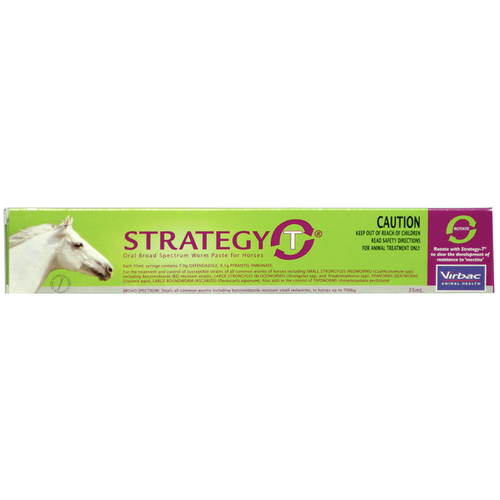 Strategy-T Oral Broad Spectrum Worm Paste for Horses