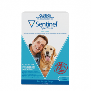 Sentinel Spectrum Dog 22 -45kg | Dog Wormer for Large Dogs