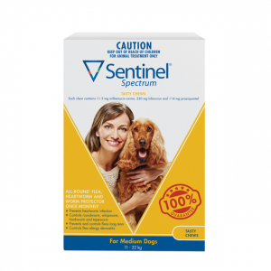 Sentinel Spectrum Dog 11-22kg - Dog Wormer for Medium Dogs
