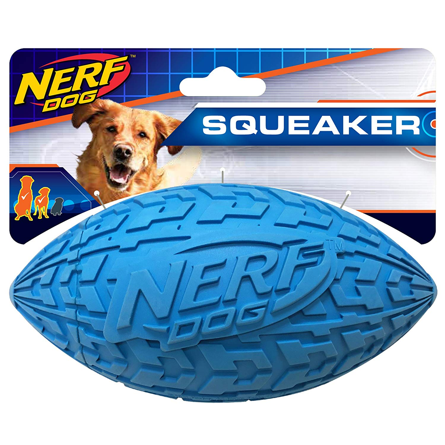 Nerf Tire Squeak Football Dog Toy Large - Nerf Dog Toys