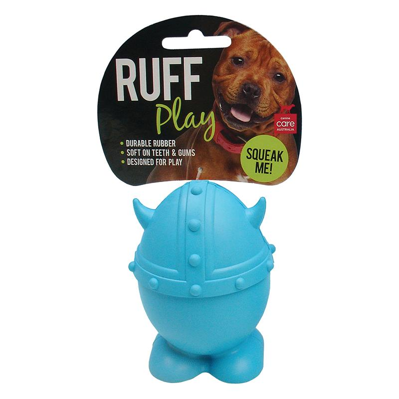 Ruff Play Dog Toy Viking Blue Squeaker