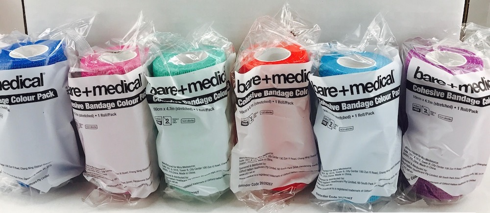 Bare+Medical Cohesive Bandage 10cm x 4.7m