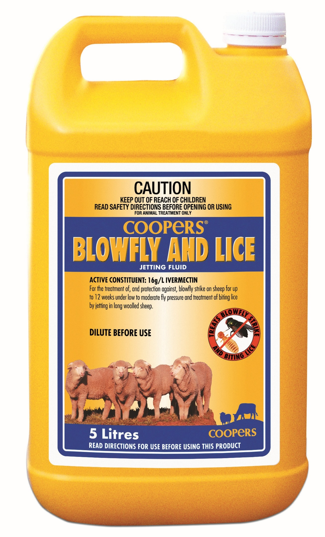 Coopers Blowfly & Lice Jetting Fluid 5L